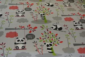ljus grå botten med pandor