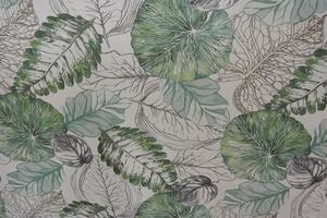 Fiona ljus botten med blad i gröna toner
