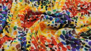 multifärgad krinklad chiffong