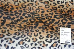 Velbor med gepardmönster i bruna toner