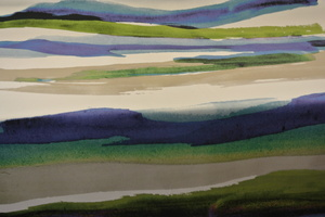 Kinnamark Landskap blå,grön