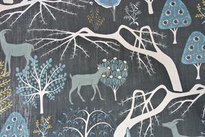 Spiras  sagoskogen på blå botten