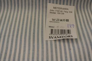 Svanefors vävd vit och ljusblå rand