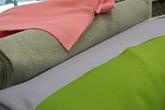 joggingtyg med flossad baksida i rosa,grå,lila och grön