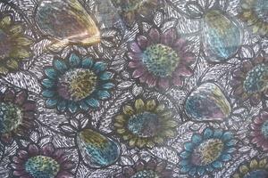 Svanefors blommor i auqua,abegin och senapsfärger