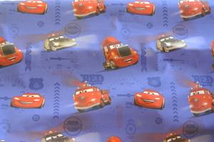 Cars på blå botten