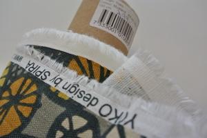 Spira  Yoko senapsgul på beige botten