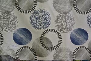 Svanefors ljud botten med cirklar i blått och grått
